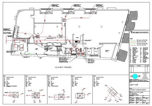 Small Survey CAD Drawing Sample